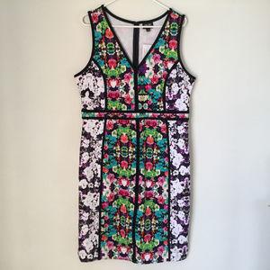 NWT Poppy Art floral dress Nicole Miller XL
